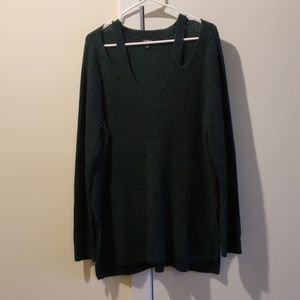 Size 1 torris cut out green sweater